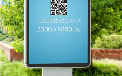 Free PSD Poster Mockup Outdoor